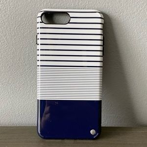 Akna Navy/White Striped iPhone 7+/8+ Phone Case